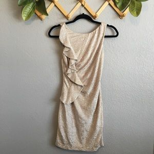 Hailey Logan by Adrianna Papell Metallic Dress